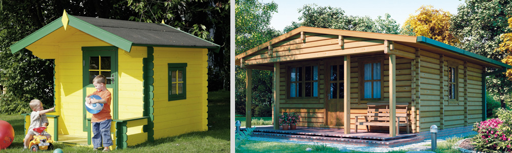 Case in legno - Casette da giardino colorate ...